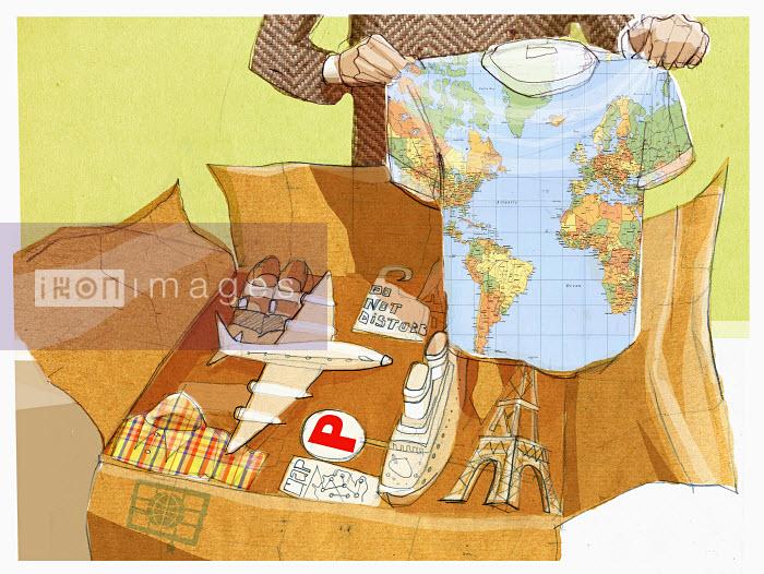 Man packing souvenirs - Man packing souvenirs - Alex Green