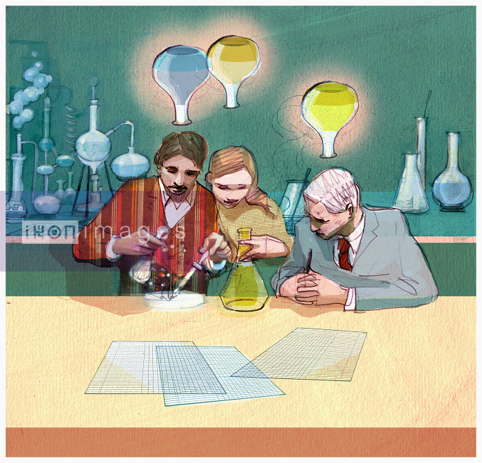 Scientists working on experiments - Scientists working on experiments - Alex Green