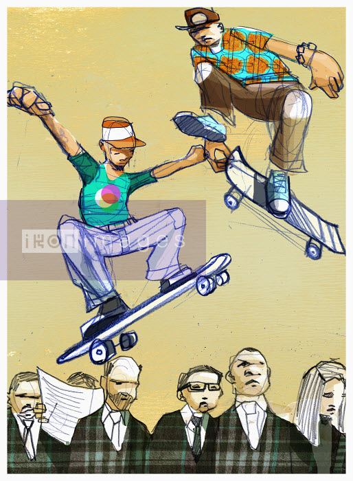 Boys on skateboards - Boys on skateboards - Alex Green