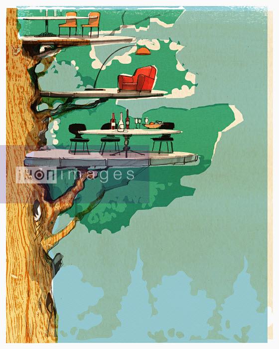 Living platforms in tree - Living platforms in tree - Alex Green