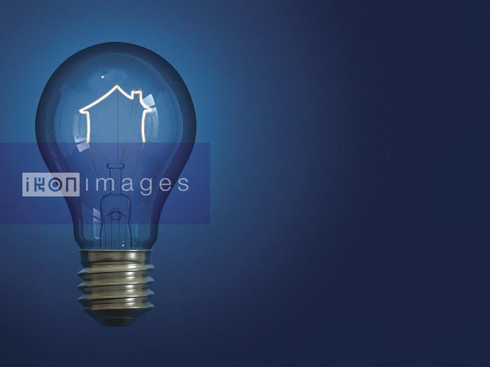 Light bulb shaped like house - Light bulb shaped like house - Justin Metz