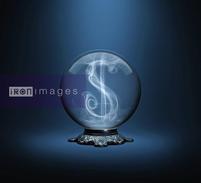 Dollar sign inside crystal ball - Dollar sign inside crystal ball - Justin Metz