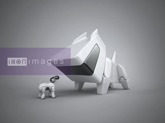 Large and small robotic dog - Large and small robotic dog - Justin Metz