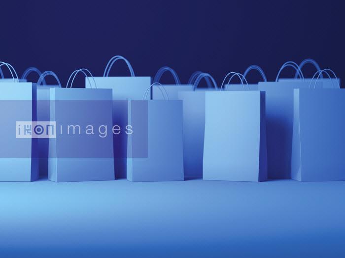 Blue shopping bags - Blue shopping bags - Justin Metz