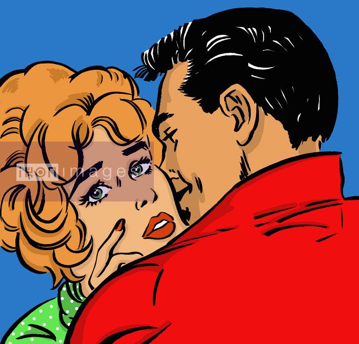 Husband kissing concerned wife - Husband kissing concerned wife - Jacquie Boyd