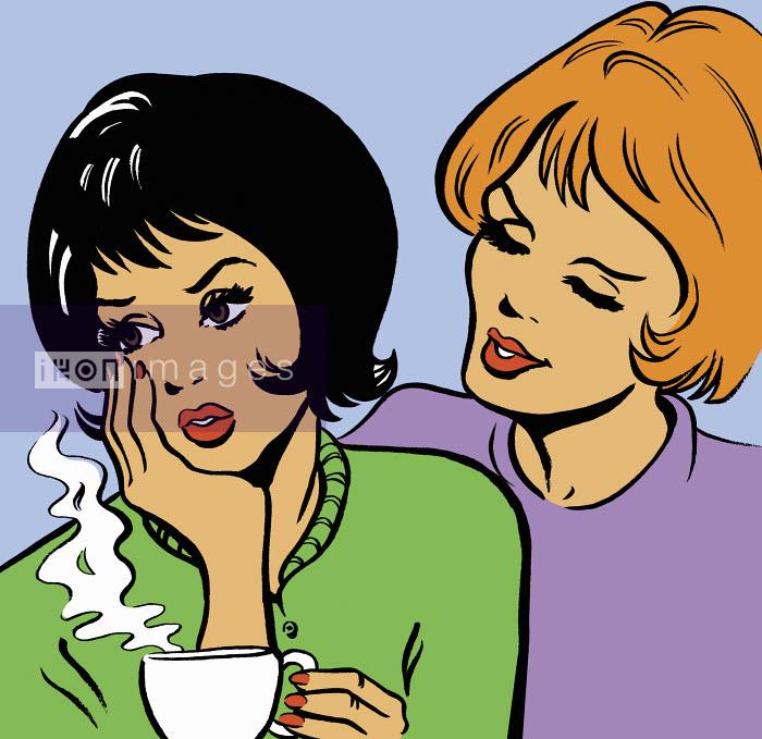 Woman consoling friend - Woman consoling friend - Jacquie Boyd