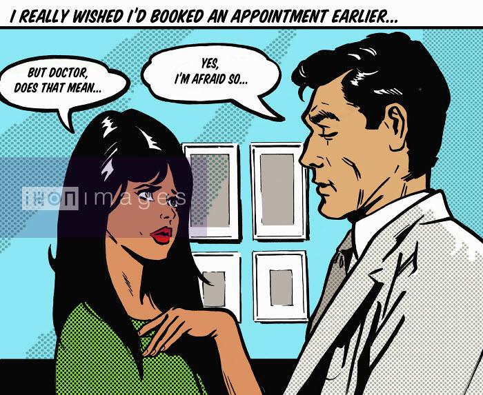 Patient receiving bad news from doctor - Patient receiving bad news from doctor - Jacquie Boyd