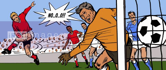 Soccer goalkeeper unhappy when striker scores goal - Soccer goalkeeper unhappy when striker scores goal - Jacquie Boyd