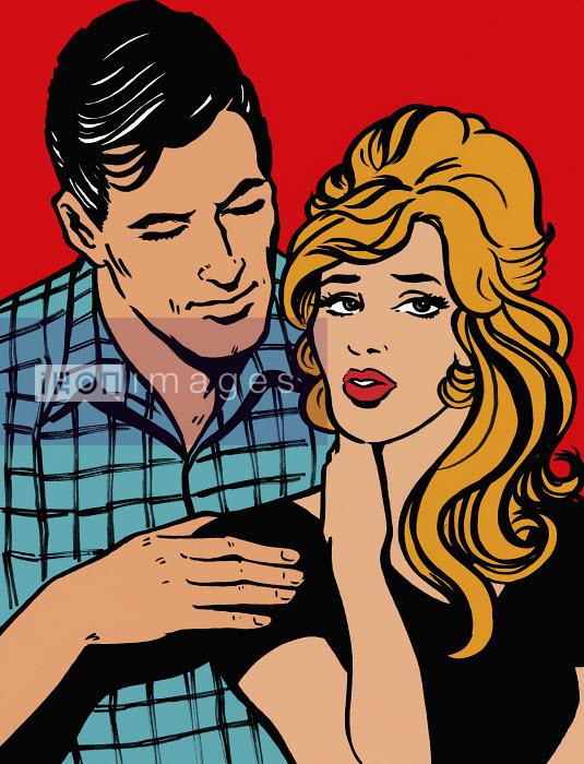 Affectionate boyfriend comforting stressed girlfriend - Affectionate boyfriend comforting stressed girlfriend - Jacquie Boyd
