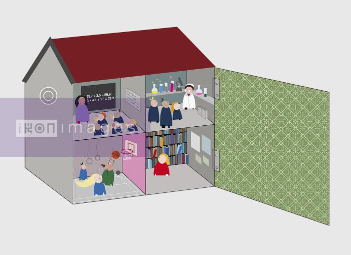 Craig Shuttlewood - Classrooms inside schoolhouse