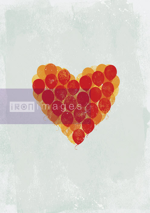 Balloons in red heart shape - Balloons in red heart shape - Yee Ting Kuit