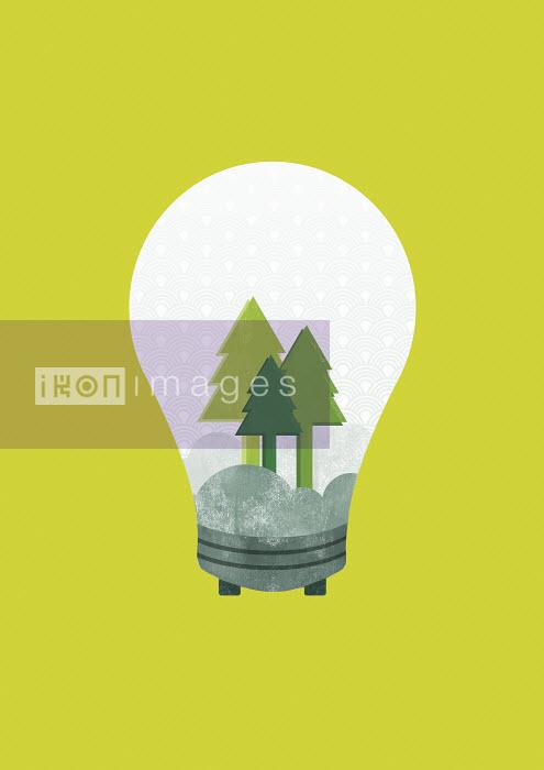 Yee Ting Kuit - Trees inside light bulb