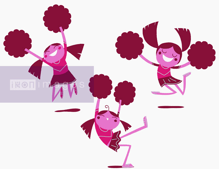 Steve Scott - Cheerleaders with pom-poms