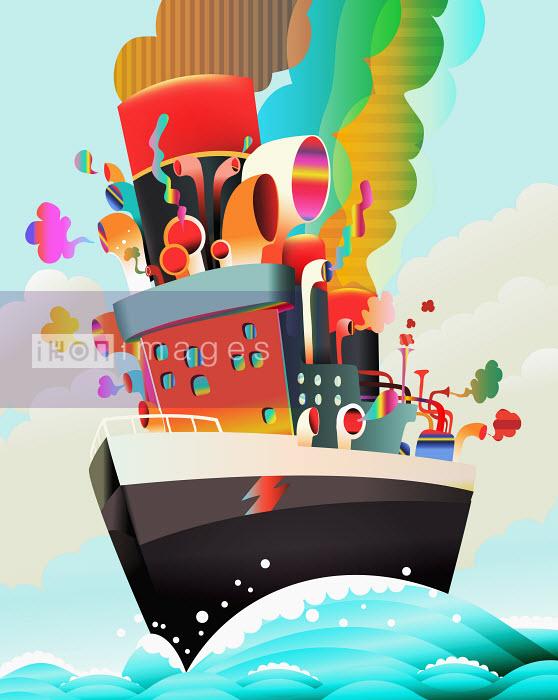 Steve Scott - Colorful, psychedelic ship