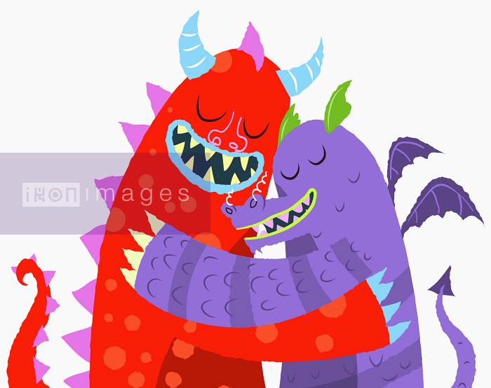 Steve Scott - Monsters hugging