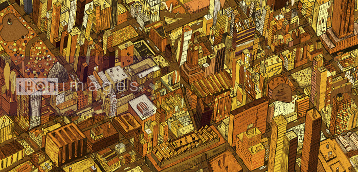 Jonathan Croft - Aerial view of city rooftops