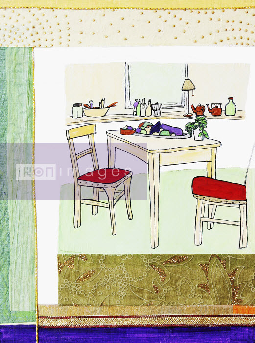 Stephanie Levy - Fruits and vegetables on kitchen table