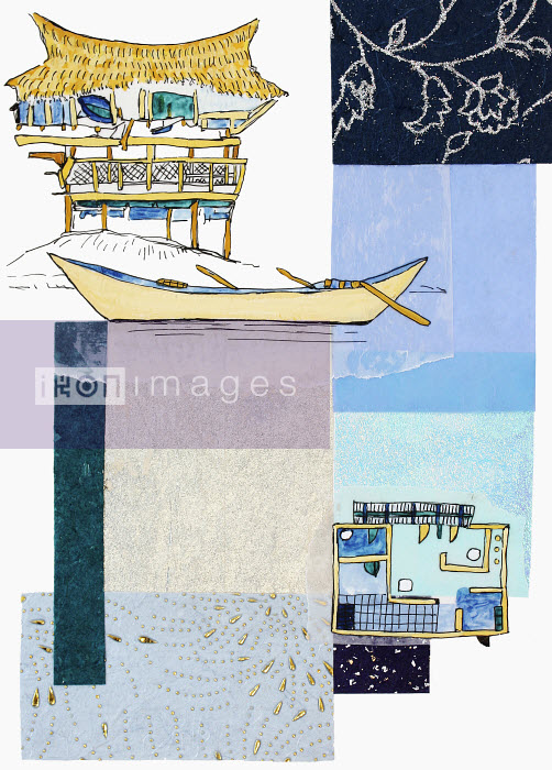Stephanie Levy - Tropical hut and floor plan