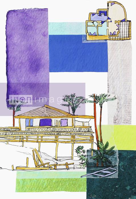 Stephanie Levy - Tropical hut and floor plan