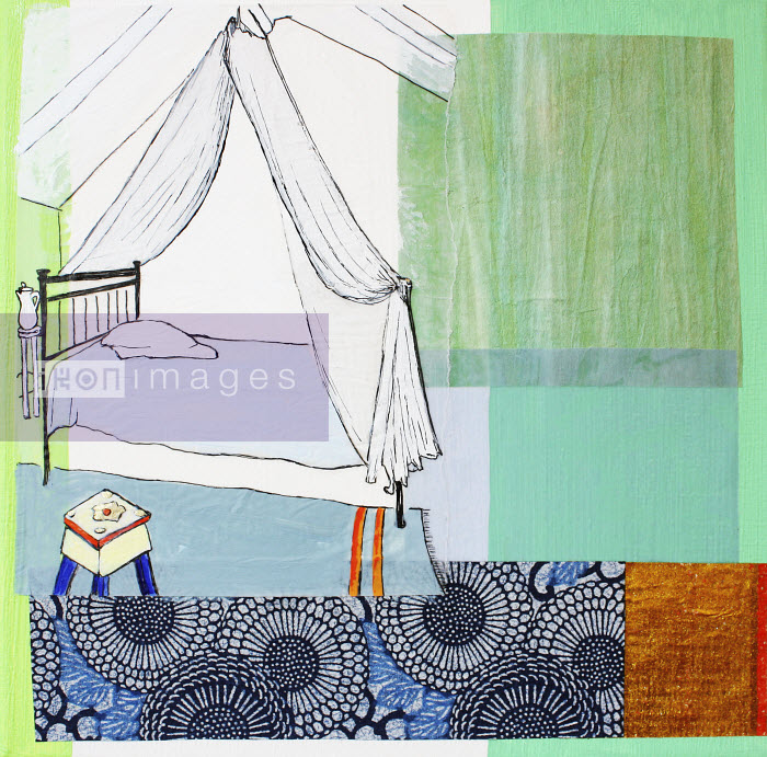 Stephanie Levy - Netting above bed