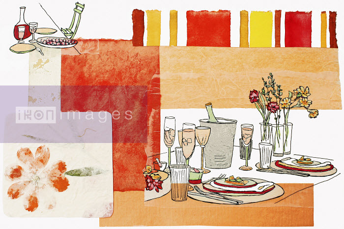 Stephanie Levy - Food and drink on patio table