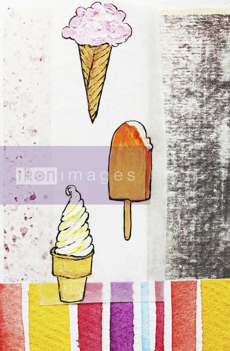 Stephanie Levy - Ice cream cones and ice lolly