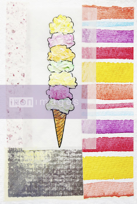 Stephanie Levy - Stacked ice cream cone