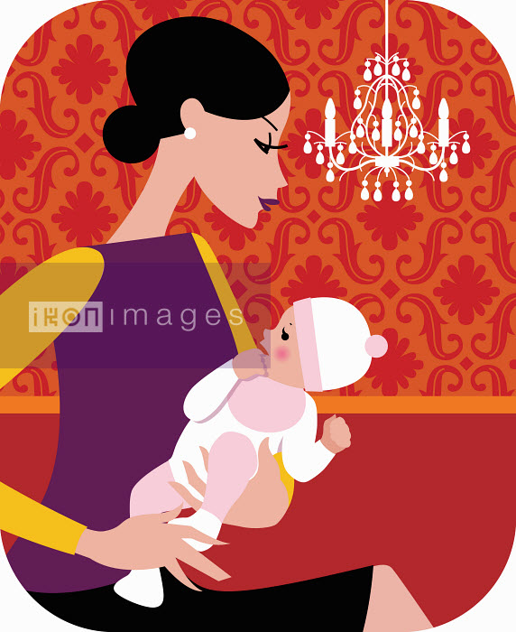 Woman holding baby - Woman holding baby - Arlene Adams