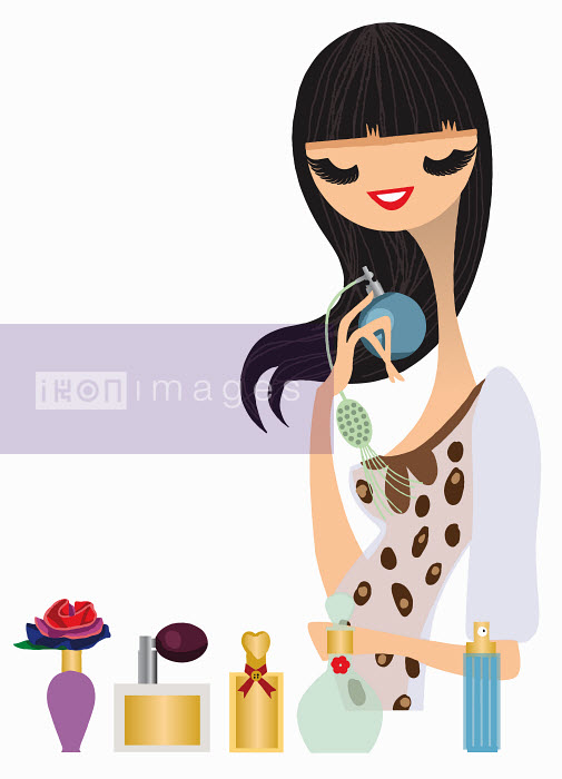 Nila Aye - Woman trying on perfume