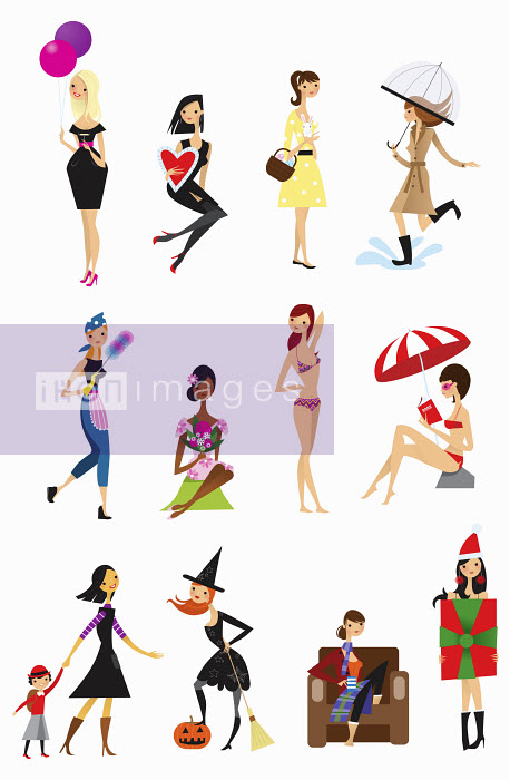 Nila Aye - Twelve poses of young woman each month throughout the calendar year