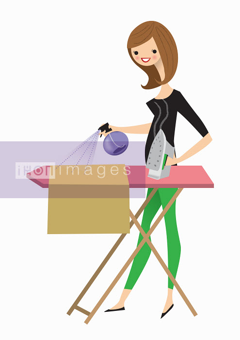 Nila Aye - Woman doing the ironing