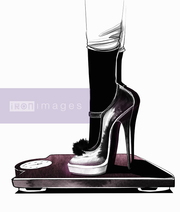 Mette Boesgaard - Close up of feet wearing high heels scale