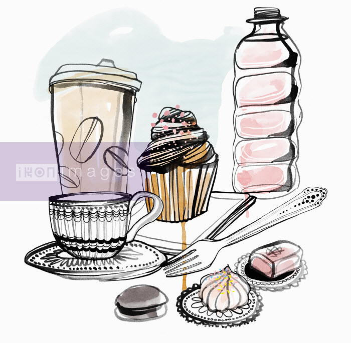 Mette Boesgaard - Close up of cakes and coffee