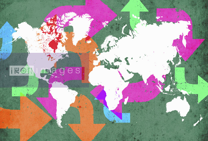 Arrow connections on world map - Arrow connections on world map - Lee Woodgate
