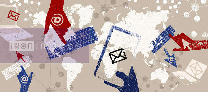 Email and global communications montage - Email and global communications montage - Lee Woodgate