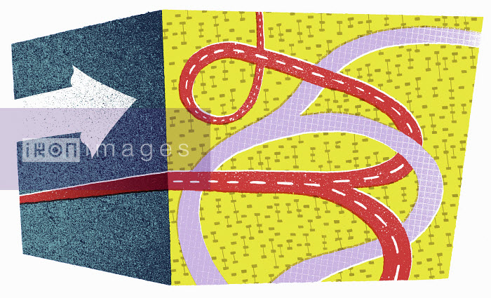 Contrasting straight and tangled paths - Contrasting straight and tangled paths - Lizzie Roberts