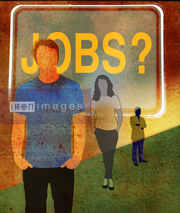Unemployed workers waiting for jobs - Unemployed workers waiting for jobs - Roy Scott