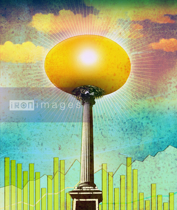 Roy Scott - Golden egg glowing on pedestal