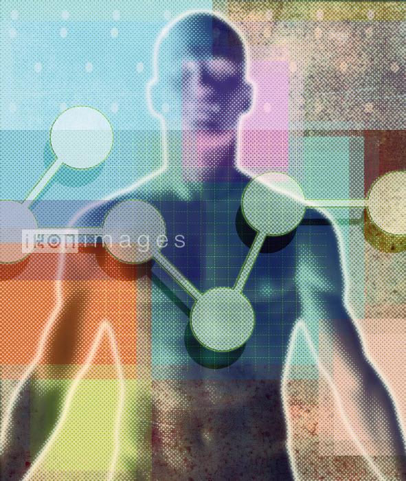 Roy Scott - Molecules over defocused man's body