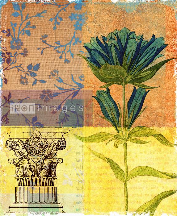 Roy Scott - Ornate pedestal and flower design