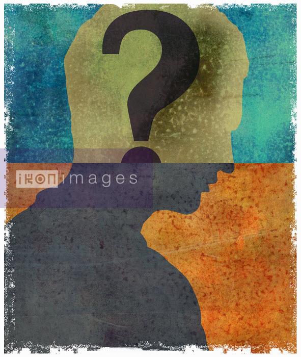 Roy Scott - Question mark inside of man's head