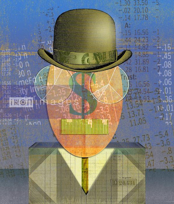Roy Scott - Finance data forming anthropomorphic face of businessman