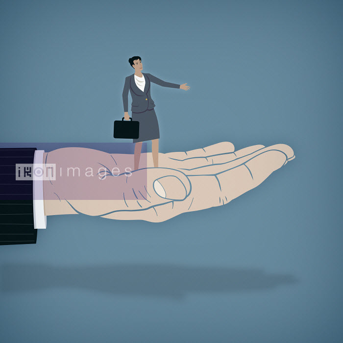 Mark Airs - Businesswoman is given a helping hand