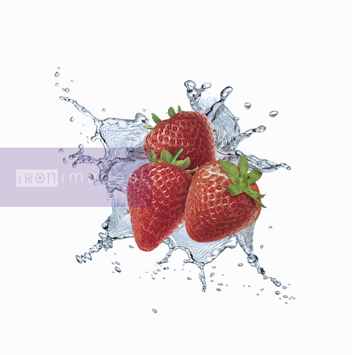 Dave Higginson - Water splashing around strawberries