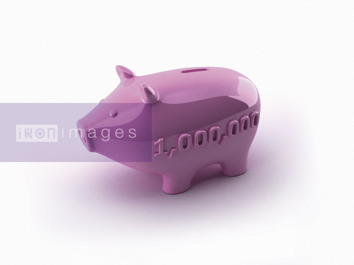 Dave Higginson - Number one million on side of pink piggy bank