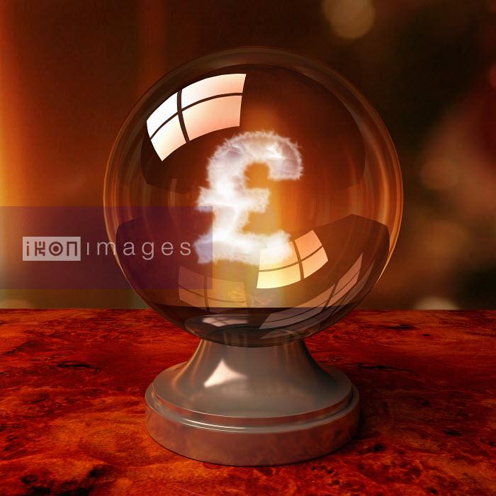 Dave Higginson - British pound symbol inside crystal ball