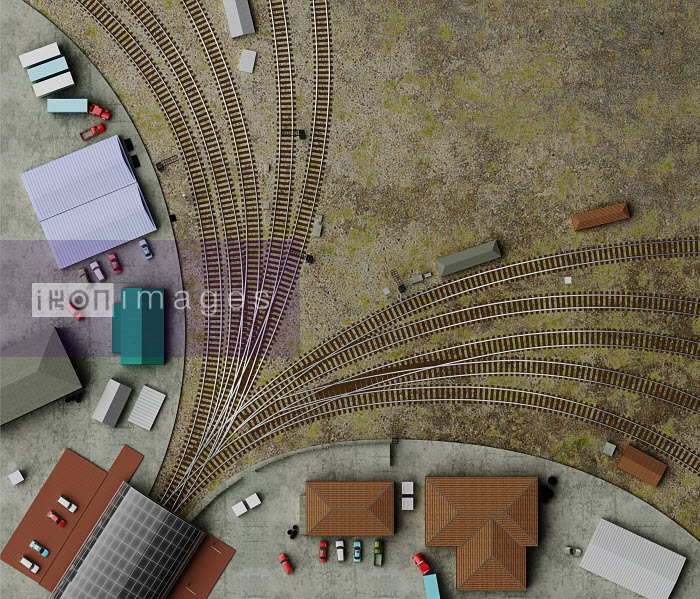 Dave Higginson - Overhead view of railway tracks at train station
