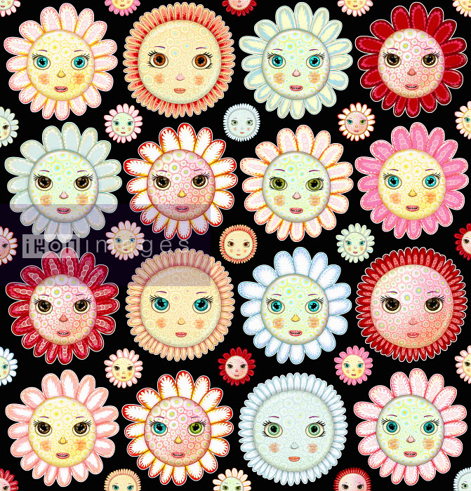 Andy Ward - Full frame flower faces pattern