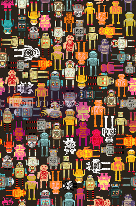 Andy Ward - Full frame robot pattern