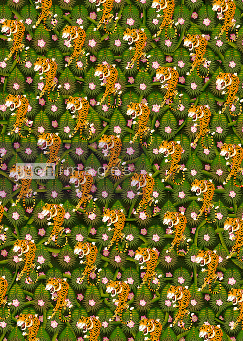 Andy Ward - Repeat full frame tiger jungle pattern